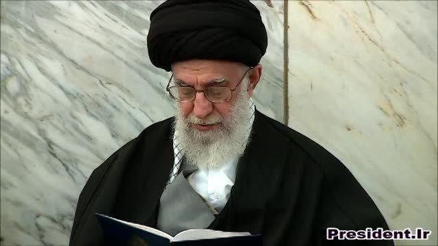 مراسم ترحیم والده دکتر روحانی با حضور رهبر انقلاب