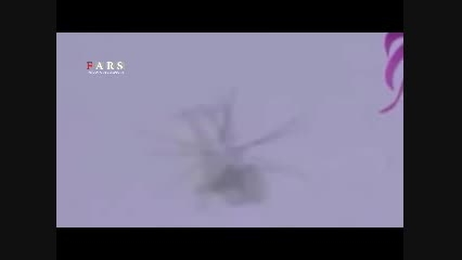 فیلم لحظه سرنگونی بالگرد سعودی توسط یمنی ها
