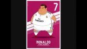 کاریکاتور جالب بازیکنان رئال مادرید