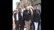 مراسم تشییع پیكرحاج غلامحسین معلم پدرشهید معلم قسمت٤