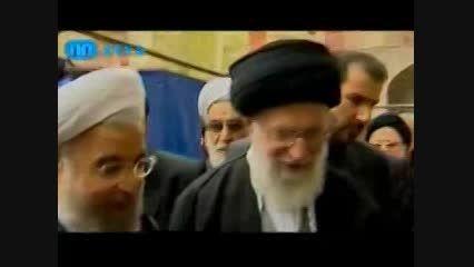 حضور رهبری در مراسم ختم مادر دکتر روحانی