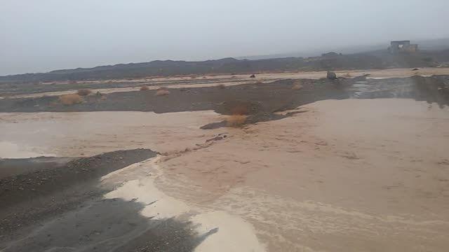 وقوع سیلاب در 15کیلومتری شهر انار