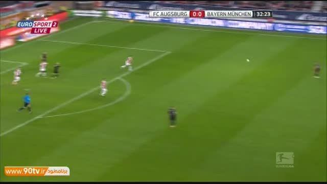 خلاصه بازی: آگزبورگ ۰-۴ بایرن مونیخ
