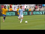 گل فوق العاده زیبای لیونل مسی به برزیل در بازی دوستانه برزیل-آرژانتین