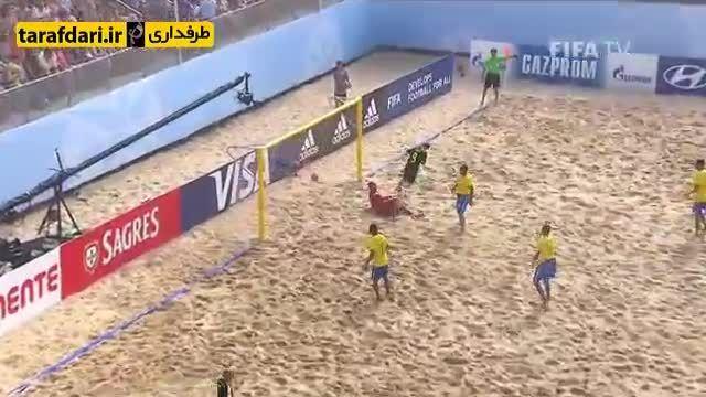 برزیل 2-1 اسپانیا (جام جهانی فوتبال ساحلی)