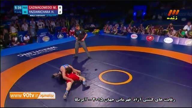شکست یزدانی مقابل روسیه و کسب مدال نقره (۷۰کیلوگرم)