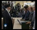 شرکت رهبر انقلاب اسلامی در مرحله دوم انتخابات مجلس نهم