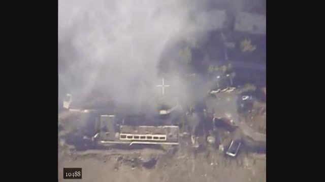بمباران گارکاه تولید مواد منفجره ی تروریست ها در حلب