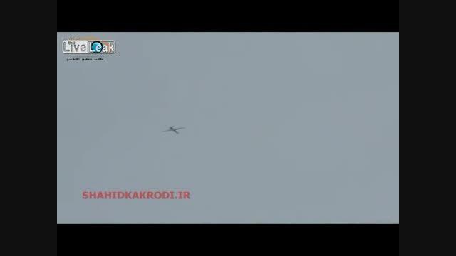 تصاویر واقعی از پرواز شاهد 129 روی سر تکفیری ها