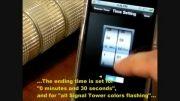 کنترل آلارم دیداری با نرم افزار موبایل