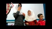 اجرای سرود توسط دانش آموزان نابینای کامیارانی