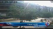 لحظه انفجار تروریستی نزدیک سفارت ایران در بیروت
