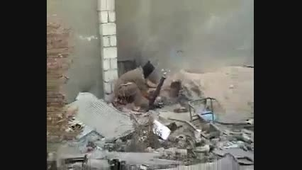 اینم یه داعشی احمق که منفجر میشه
