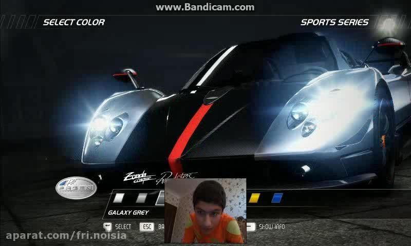 بازی کردن من در need for speed hot pursuit(منو بگیرید)