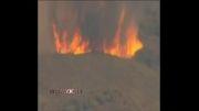آتش سوزی جنگلی ایالت کالیفرنیا آمریکا