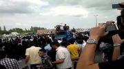عبور احمدی نژاد از جلوی دانشگاه آزاد ارومیه
