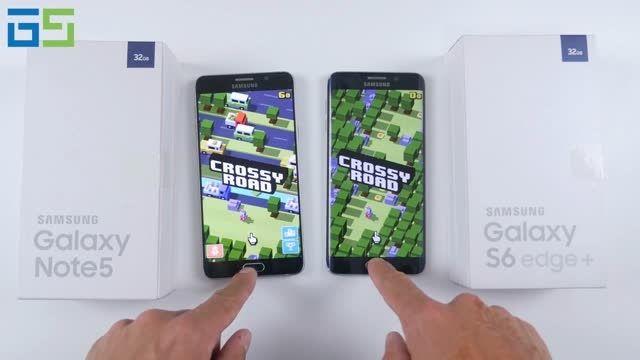 مقایسه سرعت میان  Galaxy Note5 و Galaxy S6 edge Plus