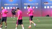 تمرینات امروز پنج شنبه ی بارسلونا