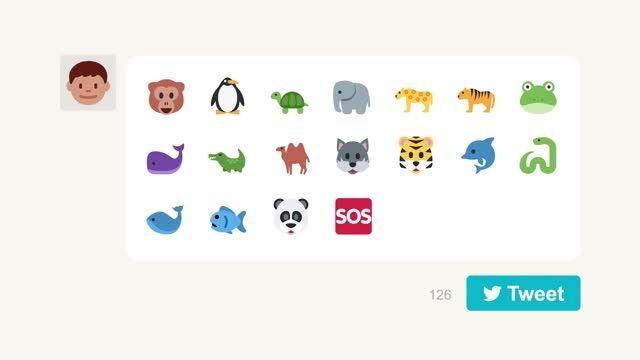 کمپین حمایت از حیوانات با توئیت شکلک WWF !