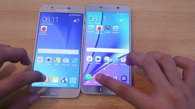 تست سرعت ؛ رقابت میان رده و پرچمدار Note 5 vs Galaxy A8
