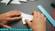 دونه برف سه بعدی با کاغذ برای تزئین اتاق یا کاردستی بچه