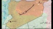 داعش و فرارشان از مناطق جنگی سوریه طبق نقشه - سوریه