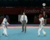 مبارزه باقری معتمد با حریف برزیلی در المپیک لندن