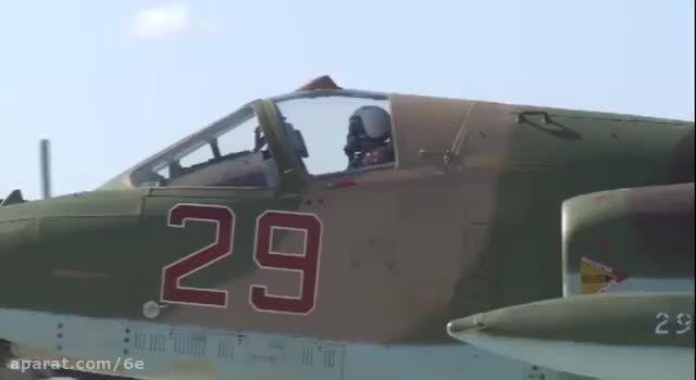حملات هوایی جنگنده های روسیه به مقر داعش