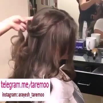 آموزش بافت موی بسیار زیبا
