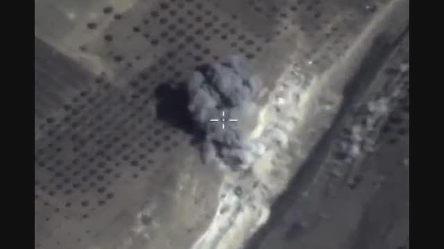 بمباران مواضع تروریست ها توسط هواپیماهای روسی