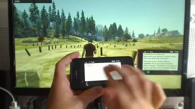 کنترل تلفن همراه داخل بازی GTA V بوسیله ی آیفون!