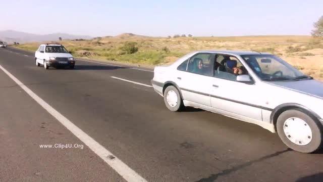 دلخراش از لحظه تصادف موتور سوار با تریلی در مراسم عروس