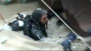 سیل در مترو تهران و اقدام شهرداری