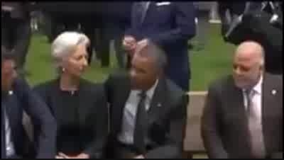 بی توجهی اوباما به نخست وزیر عراق در حاشیه نشست هفت