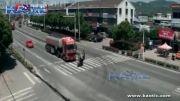 تصادف مرگبار موتور سوار با تریلی در اتوبان