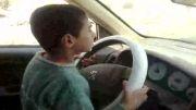 رانندگی پسر بچه هفت ساله