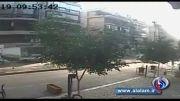 لحظه انفجار نزدیک سفارت ایران در بیروت