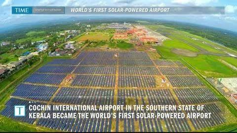 نخستین فرودگاه کاملاً خورشیدی جهان