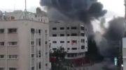 منفجر کردن ساختمان 12 طبقه در غزه توسط اسرائیل