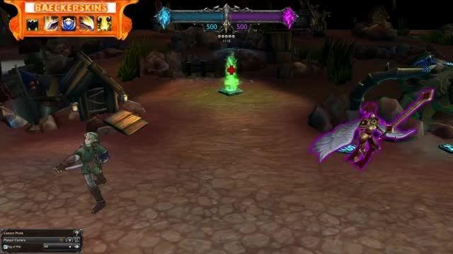 تغییر شکل شخصیت گارن به «لینک» در بازی League of Legend