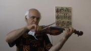 ویولون نوازی زیبا((قطعه زیبای کاروان ابوالحسن صبا))