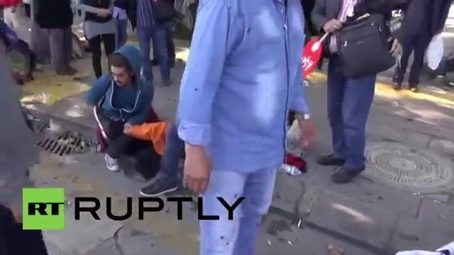 لحظه انفجار بمب مرگبار در آنكارا پایتخت تركیه