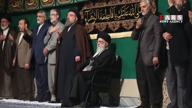 ایام فاطمیه -سردار سلیمانی در کنار رهبرانقلاب
