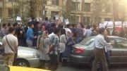 تجمع در حمایت از کوبانی مقابل دفتر سازمان ملل در تهران