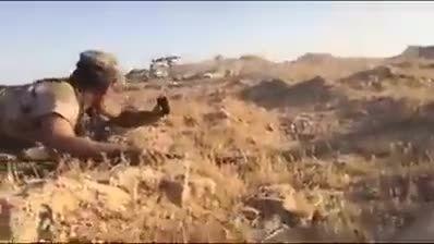 فاصله چند متری دلاور مردان بسیجی عراقی با آدم خواران