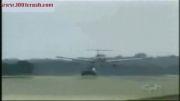 باز کردن خارق العاده چرخ هواپیما توسط ماشین از بیرون