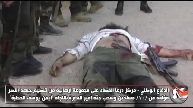 درعا-هلاکت سرکرده گروه تکفیری النصره در کمین ارتش سوریه