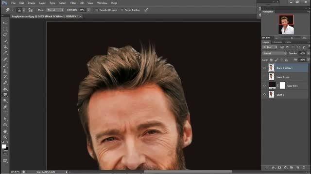آموزش فتوشاپ 6 - تبدیل تصاویر به نقاشی