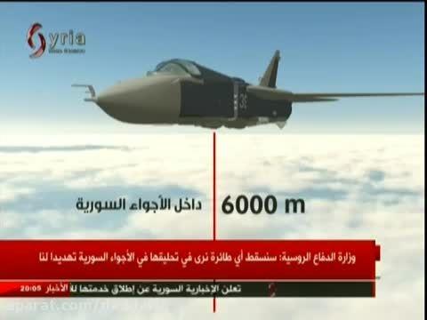 شبیه سازی حمله F16 ترکیه به سوخو 24 روسیه در سوریه