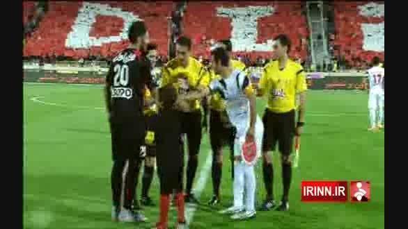 هانی نوروزی با بازوبند کاپیتانی در بازی پرسپولیس